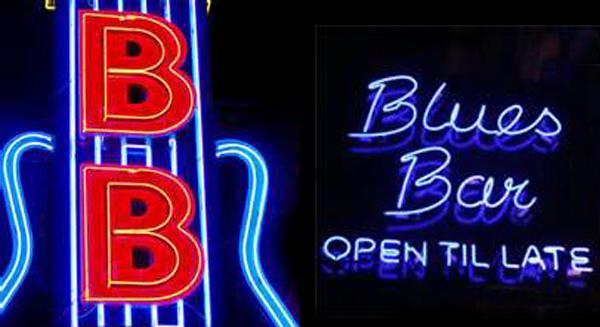 BB Blues Sign