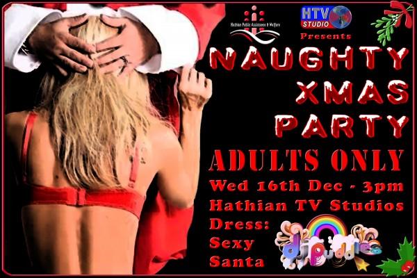 Naughty Xmas Party Poster